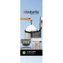 Brabantia, worki plastikowe - białe rozmiar G (20-30l)
