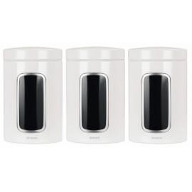Brabantia, pojemnik z okienkiem 1.4l - biały zestaw 3szt