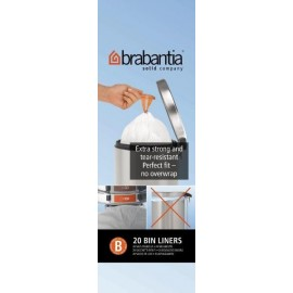 Brabantia, worki plastikowe - białe rozmiar B 5l