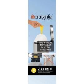 Brabantia, worki plastikowe - białe rozmiar A 3l