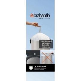 Brabantia, worki plastikowe - białe rozmiar H 40-50ll
