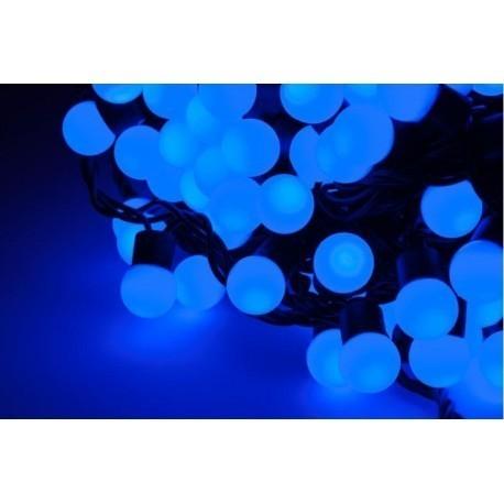 Diodowe, LED, lampki choinkowe ozdobne zewnętrzne, niebieskie - 20mb