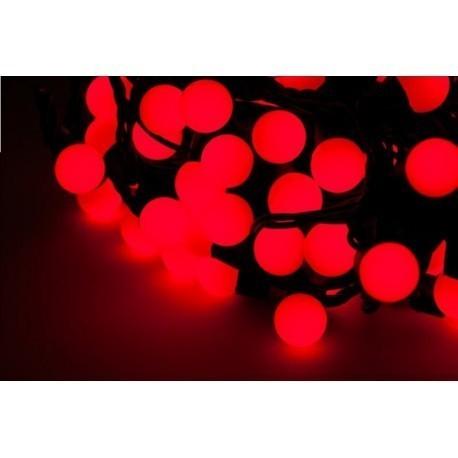 Diodowe, LED, lampki choinkowe ozdobne zewnętrzne, czerwone - 20mb