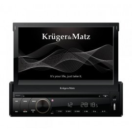 "Radio samochodowe Kruger&Matz 1DIN, 7"" z tunerem DVB-T, GPS, BT"