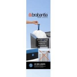 Brabantia, worki plastikowe - białe rozmiar Q 18l