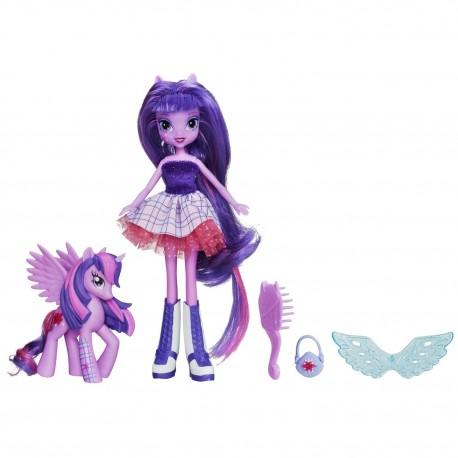 My Little Pony, Equestria Girls, Twilight Sparkle z kucykiem połączone magicznym lustrem