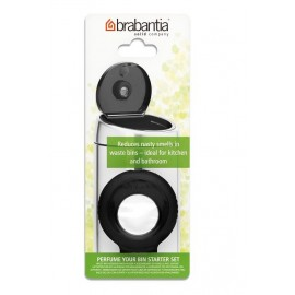 Brabantia 482045 - Perfume Your Bin, zestaw zapachowy do kosza, starter czarny