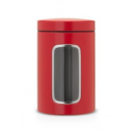 Brabantia - 484063, red passion, czerwone pojemniki 1,4l