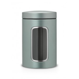 Brabantia - 484360, metaliczna mięta, pojemniki 1,4l