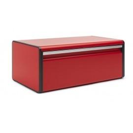 Brabantia - 484025, chlebak, pojemnik na pieczywo prostokątny czerwony