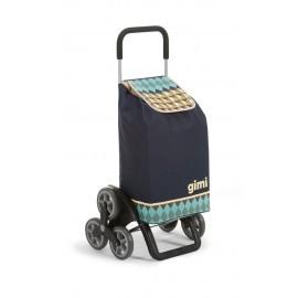 GIMI Tris Optical blue profesjonalny wózek 6 kołowy