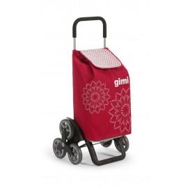 GIMI Tris Floral Red profesjonalny wózek 6 kołowy