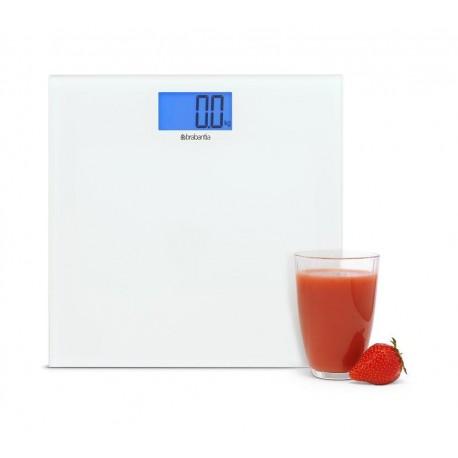 Brabantia 483127 waga łazienkowa szklana biała