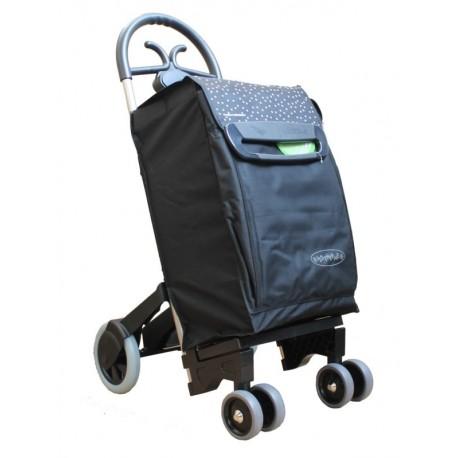 Aurora - wózek zakupowy FORZA 6 z izotorbą i aluminiowym stelażem