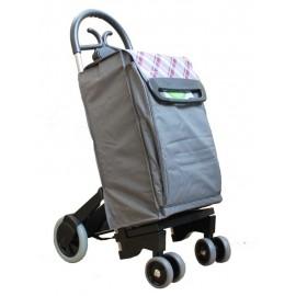 Aurora - FORZA 6 szary wózek na zakupy z izotorbą i aluminiowym stelażem