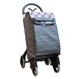 Aurora - Forza 4 szary wózek na zakupy z izotorbą i aluminiowym stelażem