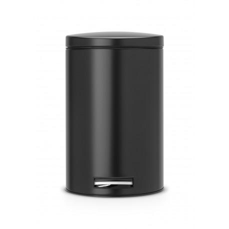 Brabantia 478109 - Czarny matowy, kosz pedałowy o poj. 12l z wiaderkiem plastikowym, Silent