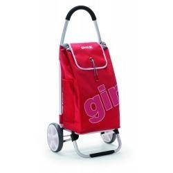 GIMI GALAXY czerwony, torba PVC, wózek na zakupy aluminium