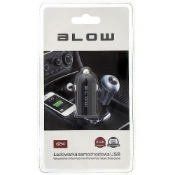 BLOW Mocna ładowarka samochodowa z gniazdem USB 2,4A / 5W / 12V