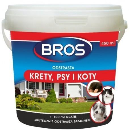 Proszek do odstraszania psów, kotów i kretów 350ml + 100ml gratis BROS