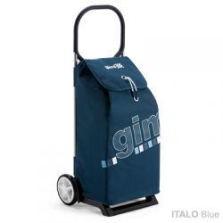 GIMI ITALO Blue - profesjonalny wózek na zakupy z dużą torbą 52l