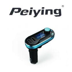 """Samochodowy transmiter 1,4"""" z ładowarką USB (5V/2.1A) Peiying Bluetooth"""