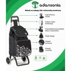 Adansonia - wózek zakupowy z przegrodą termiczną