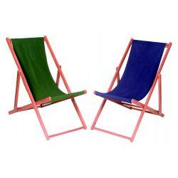 Leżak plażowy Deck Chair drewno egzotyczne