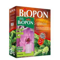 Nawóz jesienny do iglaków, 3kg + gratis pałeczki nawozowe do stroczyków BIOPON