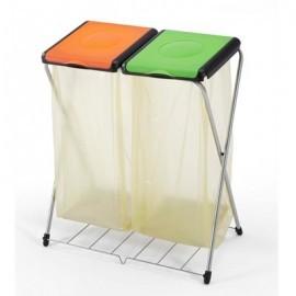 GIMI Nature 2Plus - stojak 2x120l z półką, stelaż na worki, na śmieci. Najwyższa jakość
