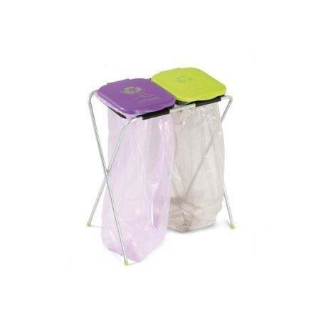 CASABRIKO EKO - 2. Stojak na worki 2x120l, segregacja śmieci, odpadów