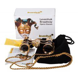 Lornetka teatralna Levenhuk Broadway 325F czarna, z oświetleniem LED i łańcuszkiem