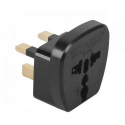 Przejściówka czarna, złącze AC, adapter wtyk UK (angielskie) - gn. uniwersal (europejskie lub inne) (QZ36)