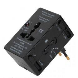 Przejściówka adapter uniwersalny do gniazd w Europie, UK, Japonii, Hiszpanii, Chinach, Australii, USA