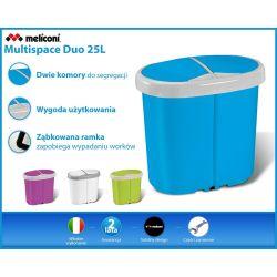 Meliconi podwójny kosz na śmieci Multispace Duo 25l