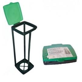 Quadra 120 - zielony stojak na worki o pojemności od 30 do 120l