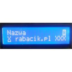 Wyświetlacz LCD 2x16 niebieski