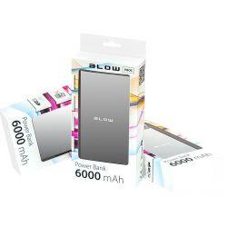 BLOW PowerBank 6000mAh 1xUSB PB05 SREBRNY bateria awaryjna