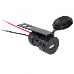 Gniazdo ładowarki z USB do montażu, zabudowy 12/24V - 5V 1A, ML0588