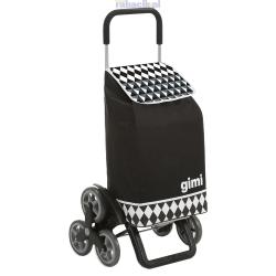 GIMI Tris Optical black profesjonalny wózek 6 kołowy