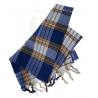 Fashy Hammam bawełniany ręcznik do sauny na plażę lub basen, niebieski