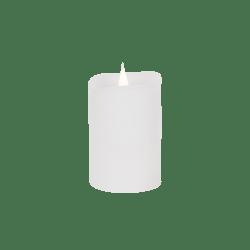 Świeca woskowa LED rustic white mała z ruchomym płomykiem, LED0202