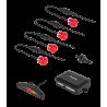 Peiying Samochodowe czujniki parkowania, parktronic, czerwone PY0104R