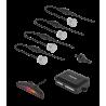 Peiying Samochodowe czujniki parkowania, parktronic, srebrne PY0104S
