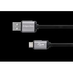 Kruger&Matz Basic Kabel USB - USB typu C 1m, czarny