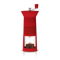 BIALETTI ręczny młynek do kawy - czerwony