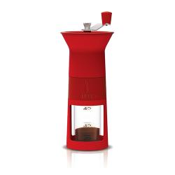 BIALETTI ręczny młynek do kawy - czerwonym