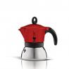BIALETTI Moka Induction czerwona kawiarka aluminiowo stalowa 3tz