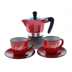 BIALETTI AETERNUM set Allegra coffee kawiarka aluminiowa 2tz + 2x filiżanka