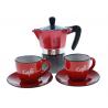 BIALETTI AETERNUM set Allegra coffe kawiarka aluminiowa 2tz + 2x filiżanka